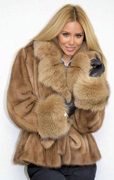 blonde pastel mink fur coat
