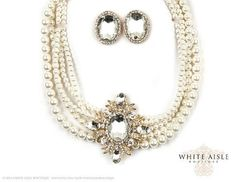 Vintage Style Ivory Pearl Bridal Necklace by WhiteAisleBoutique, $59.00