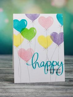Happy Girl Balloons by housesbuiltofcards - Cards and Paper Crafts at Splitcoaststampers