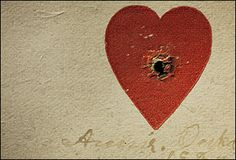 Annie Oakley's heart target. One of Oakley's most popular stunts was shooting through the center of a small heart on a card from around 40 feet away. The actual size of the heart is 1 by Annie Leibovitz ~Pilgrimage Tour Annie Oakley, Annie Leibovitz, My Funny Valentine, Valentines, Mary Oliver, Claude Monet, Vincent Van Gogh, Collages, Georgia O'keeffe