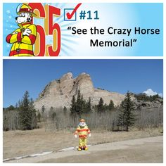 Sparky checked off two items when he visited Mount Rushmore and the Crazy Horse Memorial, both in the Black Hills region of South Dakota.