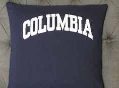 Columbia T Shirt Throw Pillow