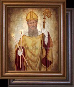 St. Blaise (Blase) Framed #saints #StBlaise