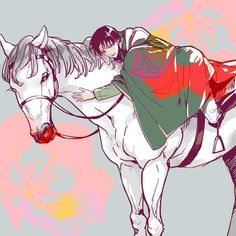 Levi and Philip<< wait woah stop right there. Yes the art is nice but the name of his horse is Philip? PHILIP?