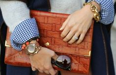gingham and chunky chain