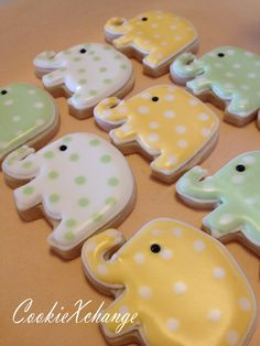Elephant Birthday Theme | Elephant Cookies decorated birthday theme party or just because. $23 ...