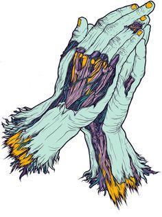 zombie hands draw inspo