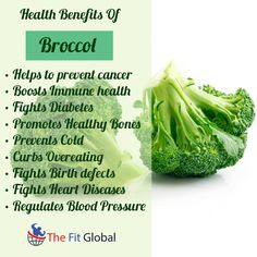Benefits Of Broccol #cancer #cold #bones #health #thefitglobal