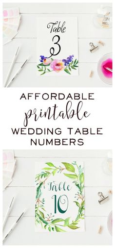 How pretty are these watercolor wedding table numbers? Check out Pineapple Street Designs for high quality wedding stationery that is unique but still affordable. If you have a vision for your wedding stationery, they can make it a reality. They have wedding table numbers, menus, save the dates, invitations, wedding signs, and escort cards can be digitally downloaded or printed professionally and mailed to you.