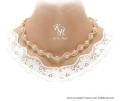 Pearl Bridal Necklace Twisted Pearl Necklace Pearl Wedding