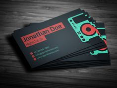 20 fantastic business cards for musicians business cards dj flat dj business card businesscards music psdtemplates djbusinesscards reheart Choice Image