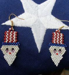 Native American Beaded Earrings (Uncle Sam Wants You)