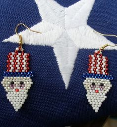 Native American Beaded Earrings (Uncle Sam Wants You)