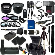 The EVERYTHING YOU NEED Package for Nikon D3100, Nikon D3200, Nikon D5100, Nikon D5200 Digital SLR Cameras. Includes: Wide Angle & Telephoto Lenses, Filters, Batteries, Flash, Tripod, Monopod, Case, 32GB Memory Card, Dual Neck Strap & Much Much More! - http://www.digitalcameraoptics.com/the-everything-you-need-package-for-nikon-d3100-nikon-d3200-nikon-d5100-nikon-d5200-digital-slr-cameras-includes-wide-angle-telephoto-lenses-filters-batteries-flash-tripod-monopod-case-3/