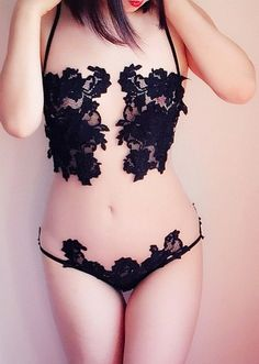 Another jaw dropping image of @theblushingfox in our hand cut lace and Italian tulle bodysuit | SHOP SJ Lingerie