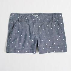 dotted chambray shorts / j.crew factory