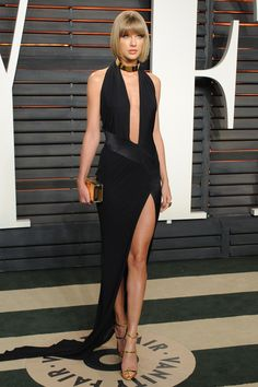 Vanity Fair Oscar party 2016 - Taylor Swift in Alexandre Vauthier couture Estilo Taylor Swift, Taylor Swift Sexy, Taylor Swift Style, Taylor Swift Pictures, Taylor Alison Swift, Celebrity Dresses, Celebrity Style, Rock Outfits, Emo Outfits