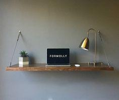 Floating Desk Wall Mounted Desk Walnut