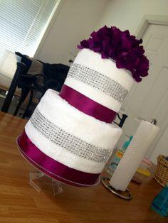 Bridal Shower towel Cake!