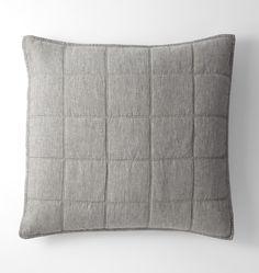 Washed Linen Quilt & Shams - Heathered Gray - | Rejuvenation