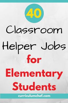 Check out this list of 40 fantastic classroom jobs for elementary students! I guarantee you'll find something here for every type of student. New Teacher Classroom Ideas, Classroom Jobs Board, Classroom Helpers, Teacher Helper, 4th Grade Classroom, Teacher Blogs, New Teachers, Classroom Management, Teacher Stuff