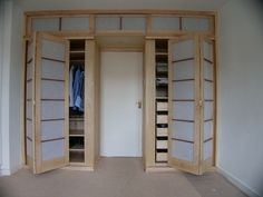 If I knew I could stick around in one place for a long time - I would invest in building on hinged shoji doors