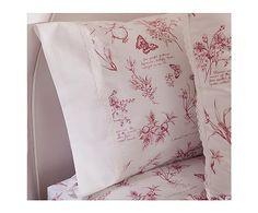 Juego de sábanas Botanic para cama de 90 cm, rosa fresa - 2 piezas