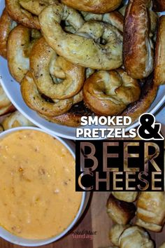 Have you ever made your own beer cheese? What about pretzels? I made both, and the end result was a combination of smoky, cheesy, hoppy flavor that was to die for. Smoker Grill Recipes, Grilling Recipes, Gourmet Recipes, Grilling Ideas, Dip Recipes, Snack Recipes, Pork Rib Recipes, Traeger Recipes, Smoked Meat Recipes
