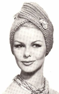 Vintage Turban Hat Head Wrap Scarf cap Knitting PATTERN KnittedTurban $8.99