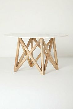 Marble Flyspeck Round Table - Anthropologie.com