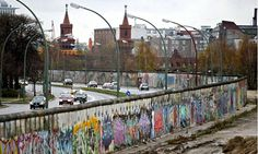 The Berlin Wall, looking west to east