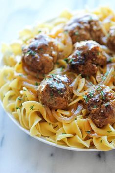 ~ Salisbury Steak Meatballs