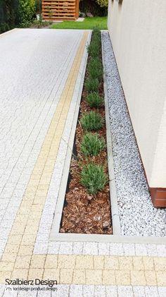 Ogród przed domem - Ogród, styl nowoczesny - zdjęcie od szalbierzdesign #landscapefrontyarddriveway