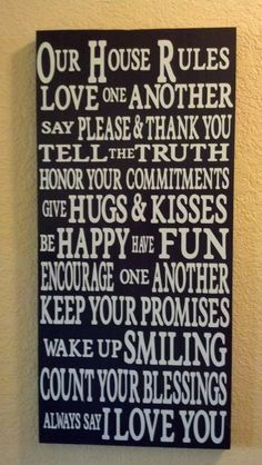 House Rules sign by ExpressionistaB on Etsy