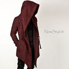 - NewStylish Mens Fashion Tops Jacket Outwear Diabolic Hood Cape Coat (Black/Red) – Source by nickwittkowski - Moda Rock, Apocalyptic Fashion, Mode Top, Mode Jeans, Cape Coat, Mode Inspiration, Winter Fashion, Cool Outfits, Menswear