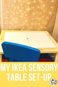 Do your students - children at home - love sensory play? Are you looking for an affordable sensory play area set-up? On the blog today I'm sharing how I was able to make this relaxing and engaging sensory play table area set-up from IKEA at a low cost. Indoor Activities For Kids, Hands On Activities, Sensory Activities, Sensory Play, Toddler Activities, Toddler Games, Sensory Diet, Summer Activities, Family Activities