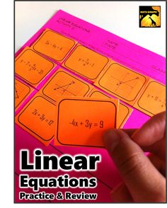 Cool way to review / practice linear equations in all different forms