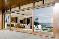 Modern Wide Sliding Glass Doors - Style Comfort And Practicality. - Interior Design Inspirations - June 01 2019 at House Design, Door Design, Home, House Exterior, Wood Doors Interior, Barn Doors Sliding, Sliding Door Design, Sliding Doors Exterior, Modern Sliding Glass Doors