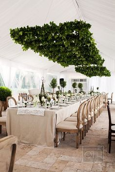 An English garden-inspired wedding luncheon. Just look at this tablescape!   Brides.com