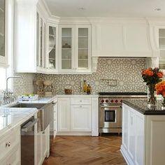Kitchen Herringbone Floor, Transitional, kitchen, OXA Architecture