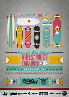 Longboard Girls Crew Event Poster - I love the colors.