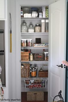 "This is about the size of my pantry, just a 22"" deep closet, about 34"" wide. It is jam-packed with odds and ends. Will this be the year I finally get it sleek and organized?"