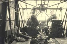 Troops before the invasion mission, a CG4-A Glider on a take-off roll, Pilots ready for take-off in a CG4-A Glider, with glasses Howell Lindsey and Paul Lowry. This is a great photo of the interior of a CG4-A