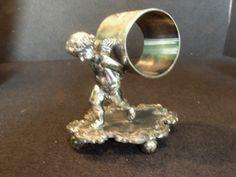 Antique Victorian Silver Figural Napkin Ring Walking Cherub. Barbour Quadruple Plate by SixOfTwelveAntiques on Etsy