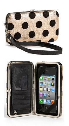 iPhone wallet wristlet - so convenient when you're just wanting to take your phone, ID and some money. http://rstyle.me/n/dgqrmn2bn