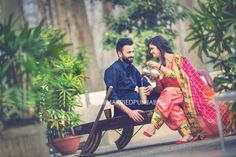 Punjabi Couple, Punjabi Bride, Pre Wedding Photoshoot, Wedding Shoot, Indian Wedding Bride, Indian Weddings, Kurta Pajama Punjabi, Couple Photography, Wedding Photography