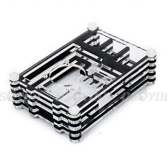 Acrylic clear case #shell enclosure box + #cooling fan for #raspberry pi 3 model ,  View more on the LINK: http://www.zeppy.io/product/gb/2/262501334832/