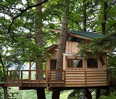 Doe Bay Resort Tree House  by the Tree House Guys, DIY network