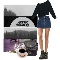 do i wanna know? by hanye on Polyvore featuring Alexander Wang, Wolford, River Island and Chanel