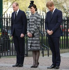Duchess Catherine William And Harry Attend Service Of Hope